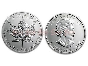 2012加拿大楓葉銀幣1盎司