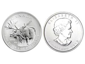 2012加拿大駝鹿(糜鹿)銀幣1盎司