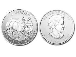 2013加拿大羚羊銀幣1盎司