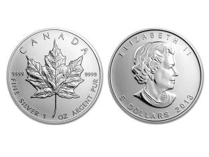 2013加拿大楓葉銀幣1盎司