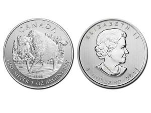 2013加拿大森林野牛銀幣1盎司