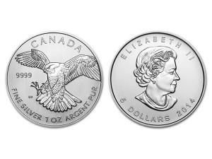2014加拿大獵鷹銀幣1盎司