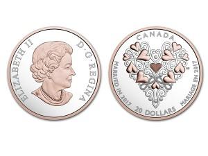 2017加拿大-大喜之日獻上最棒的祝福1盎司銀幣$20