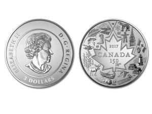 2017加拿大-國家之心0.25盎司銀幣$3