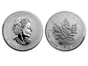 2017加拿大楓葉150週年紀念銀幣1盎司