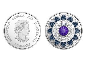 2017加拿大星座系列-摩羯座銀幣0.25盎司