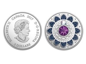 2017加拿大星座系列-水瓶座銀幣0.25盎司