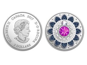 2017加拿大星座系列-雙魚座銀幣0.25盎司