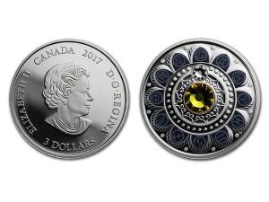 2017加拿大星座系列-巨蟹座銀幣0.25盎司
