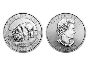 2015加拿大北極熊銀幣1.5盎司
