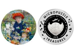 2020帛琉微拼圖系列-陽台上的兩姊妹銀幣3盎司