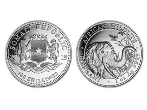 2018索馬利亞非洲象銀幣1盎司