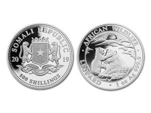 2019索馬利亞非洲豹銀幣1盎司