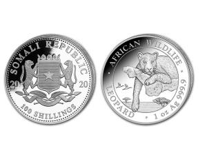2020索馬利亞非洲豹銀幣1盎司