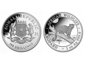 2021索馬利亞非洲豹銀幣1盎司