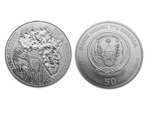 2021非洲盧旺達㺢㹢狓銀幣1盎司