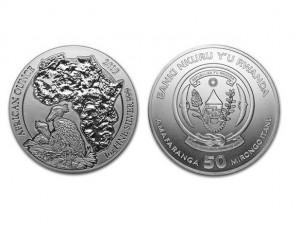 2019非洲盧旺達鯨頭鸛銀幣1盎司