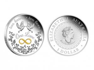 2021澳洲同心共愛銀幣1盎司