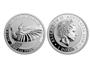 2018澳洲天堂鳥銀幣1盎司