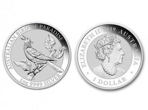 2019澳洲天堂鳥銀幣1盎司