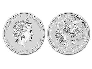 2017澳洲生肖雞銀幣1公斤(系列II)