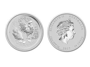 2017澳洲生肖雞銀幣0.5盎司(系列II)