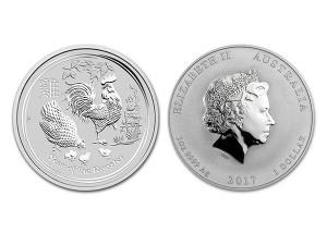 2017澳洲生肖雞銀幣1盎司(系列II)