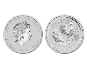 2017澳洲生肖雞銀幣2盎司(系列II)