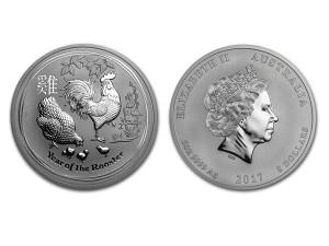 2017澳洲生肖雞銀幣5盎司(系列II)