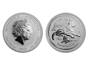 2018澳洲生肖狗銀幣0.5盎司(系列II)