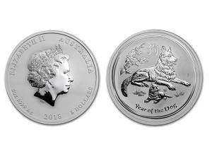 2018澳洲生肖狗銀幣5盎司(系列II)