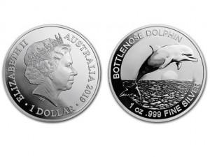 2019澳洲海豚銀幣1盎司