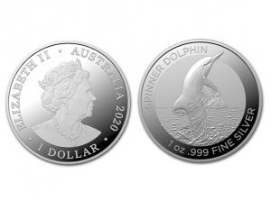 2020澳洲海豚銀幣1盎司