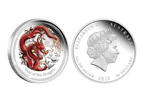 2012澳洲生肖龍銀幣1公斤(系列II-彩色版)精鑄盒裝