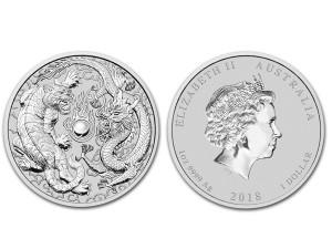 2018澳洲龍虎銀幣1盎司