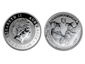 2011澳洲無尾熊銀幣1盎司-柏林加鑄