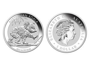 2016澳洲無尾熊銀幣1盎司