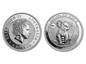 2017澳洲無尾熊銀幣1盎司-袋鼠加鑄
