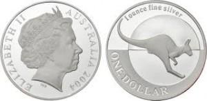 2004澳洲袋鼠銀幣1盎司