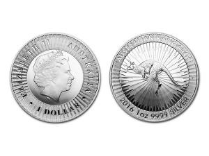 2016澳洲袋鼠銀幣1盎司