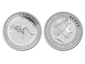 2017澳洲袋鼠銀幣1盎司