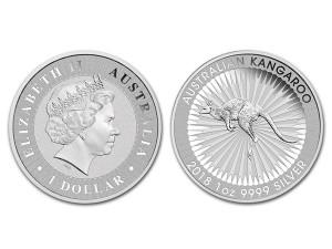 2018澳洲袋鼠銀幣1盎司