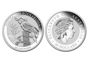 2016澳洲笑鴗鳥銀幣1公斤