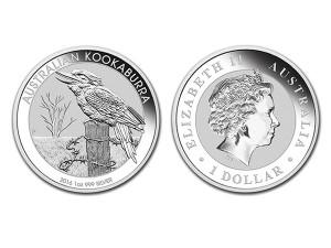 2016澳洲笑鴗鳥銀幣1盎司