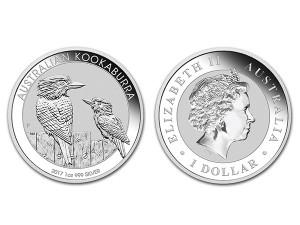 2017澳洲笑鴗鳥銀幣1盎司