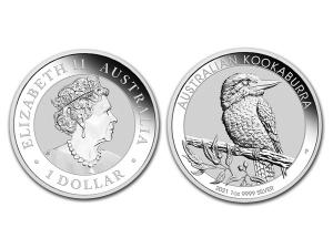 2021澳洲笑鴗鳥銀幣1盎司