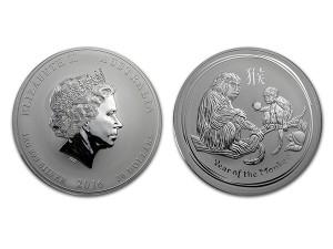 2016澳洲生肖猴年銀幣1公斤(系列II)
