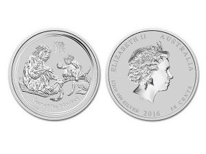 2016澳洲生肖猴年銀幣0.5盎司(系列II)