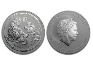 2016澳洲生肖猴年銀幣10盎司(系列II)