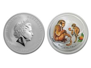 2016澳洲生肖猴年銀幣1盎司(系列II-彩色版)